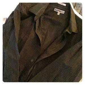 Express men's M pinstripe fitted dress shirt